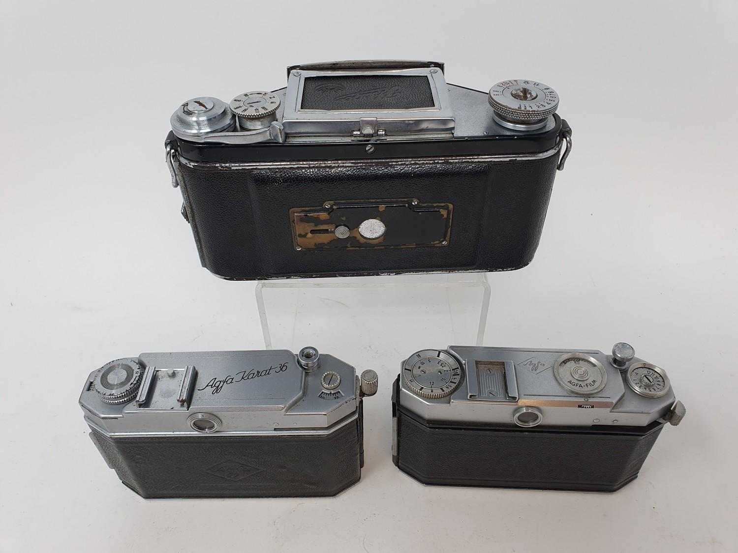 An Exakta camera, Agfa Karat 36 camera and an Agfa camera (3) Provenance: Part of a vast single - Image 5 of 6