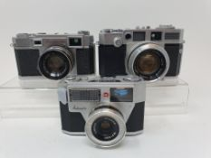 A Yashica 35 camera, serial number 38106086, an Aires 35-V camera, and a Palmat (3) Provenance: Part