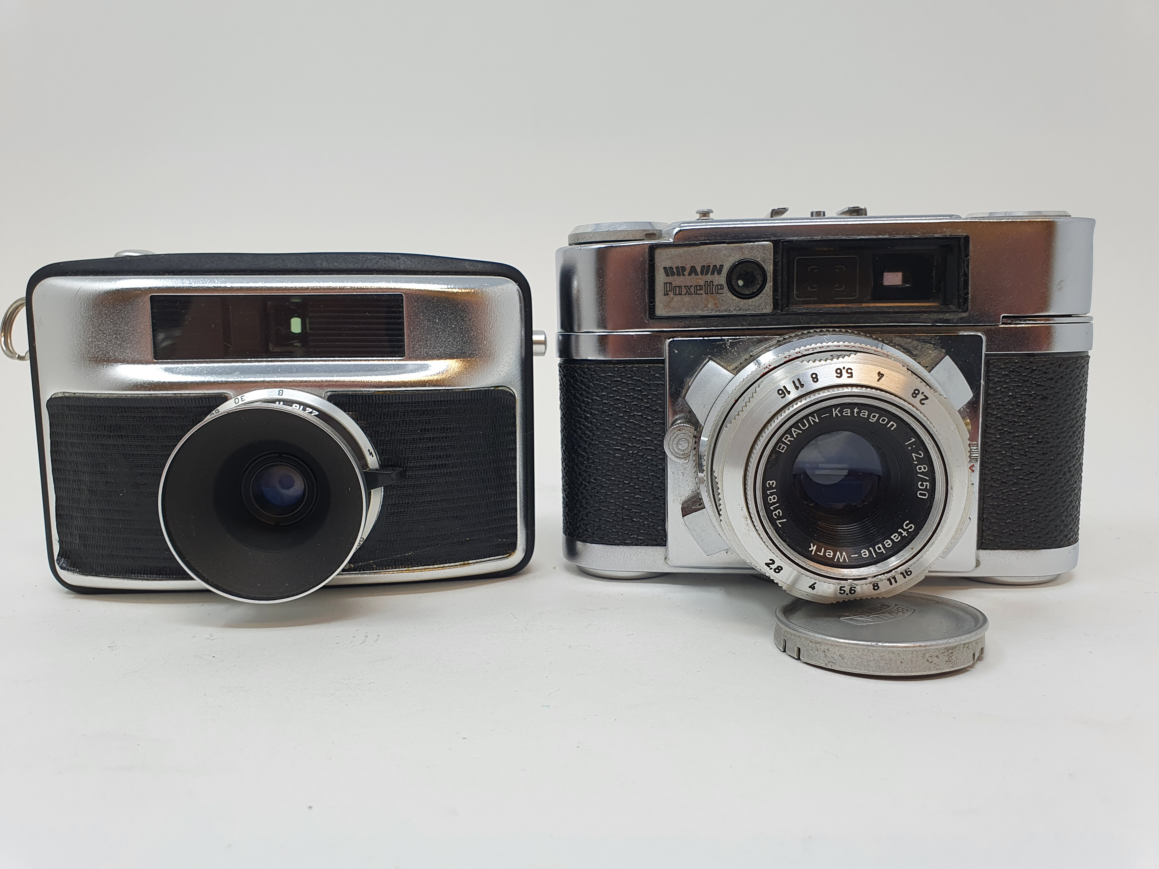 A Braun Paxette camera and a camera (2) Provenance: Part of a vast single owner collection of