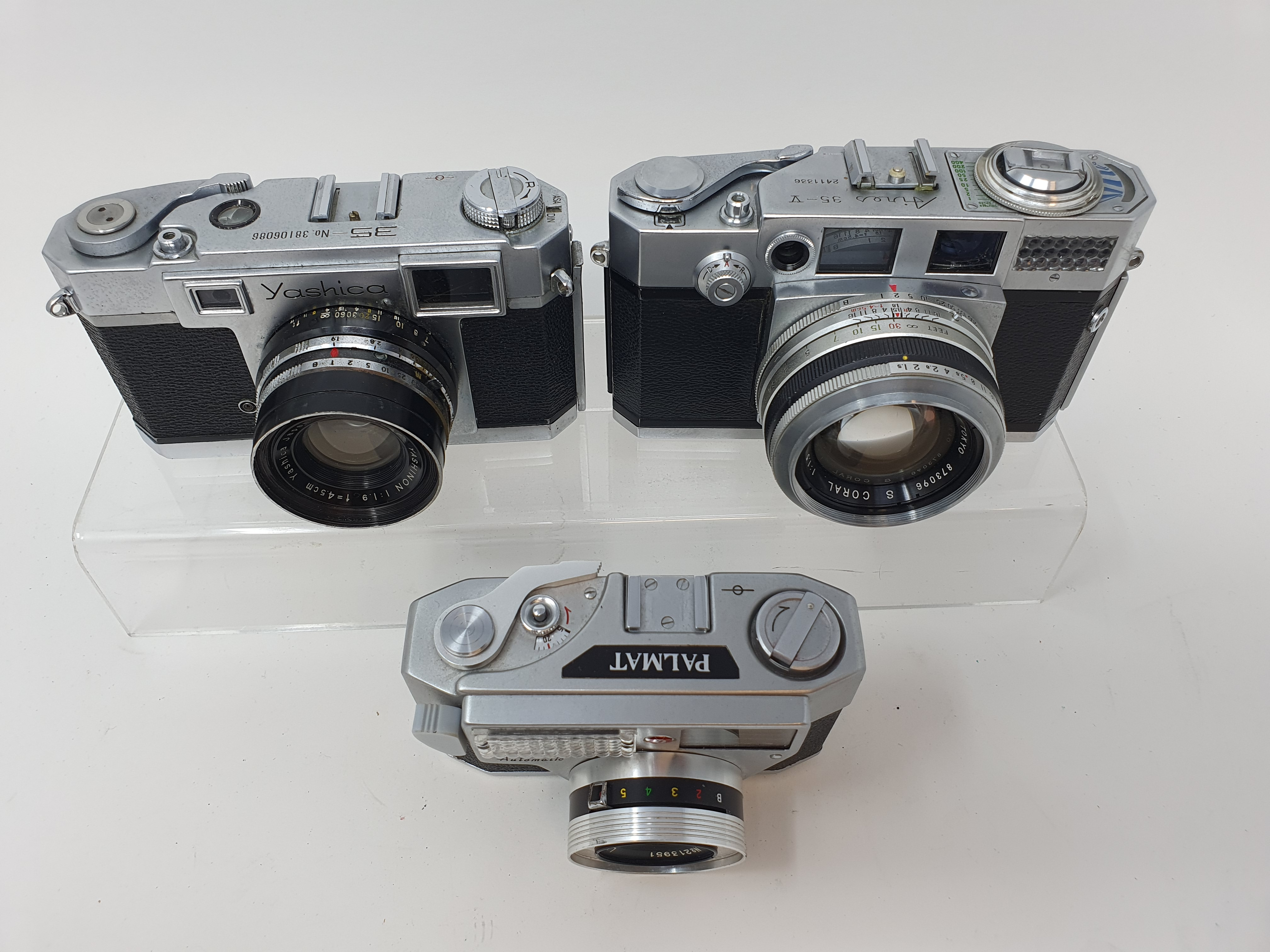 A Yashica 35 camera, serial number 38106086, an Aires 35-V camera, and a Palmat (3) Provenance: Part - Image 2 of 2