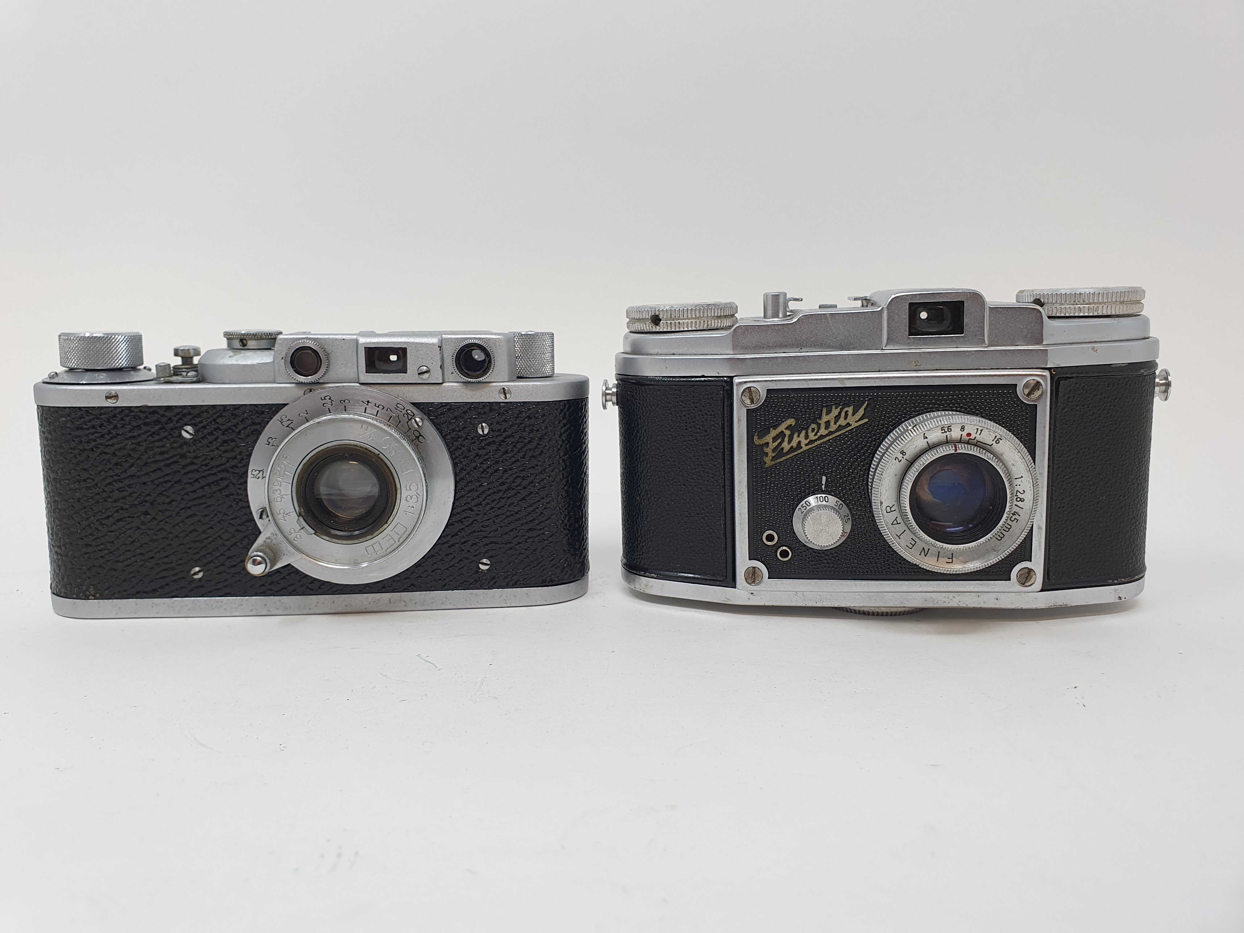 A Saraber Finetta Super camera and a Russian camera (2) Provenance: Part of a vast single owner