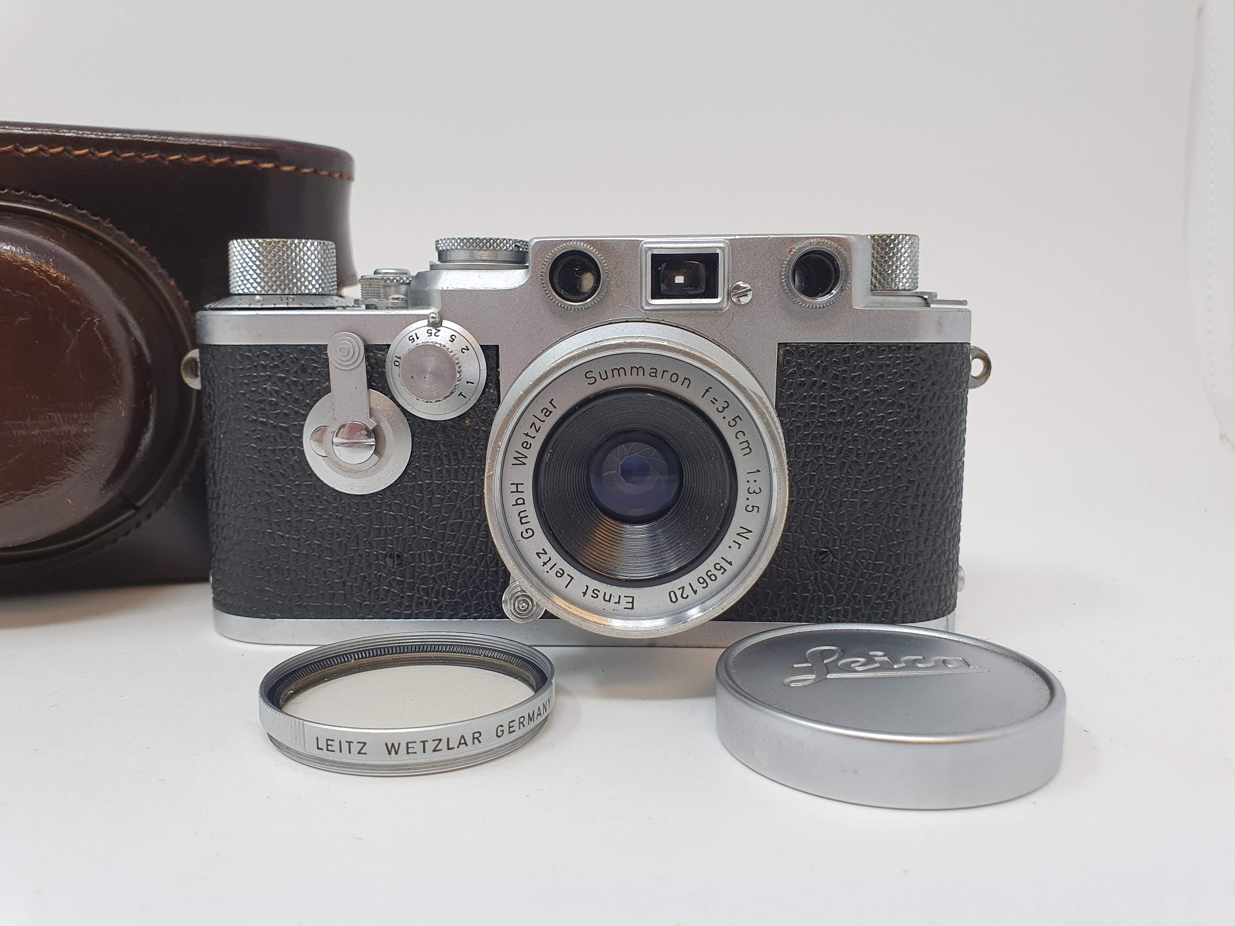 A Leica IIIf camera, serial number 798046, with leather outer case Provenance: Part of a vast single