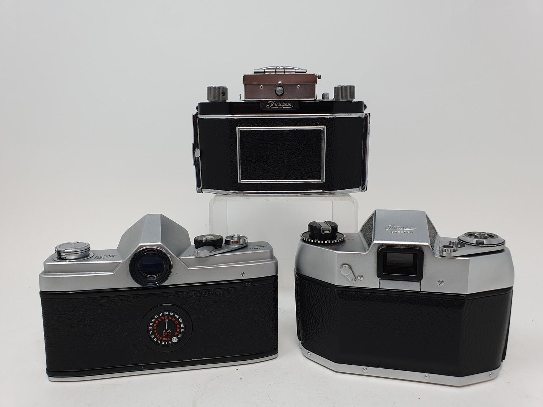 An Exa Thagee camera, lacking lens, an Exa 500 camera, and a Minolta SR - 1 (3) Provenance: Part - Image 5 of 5