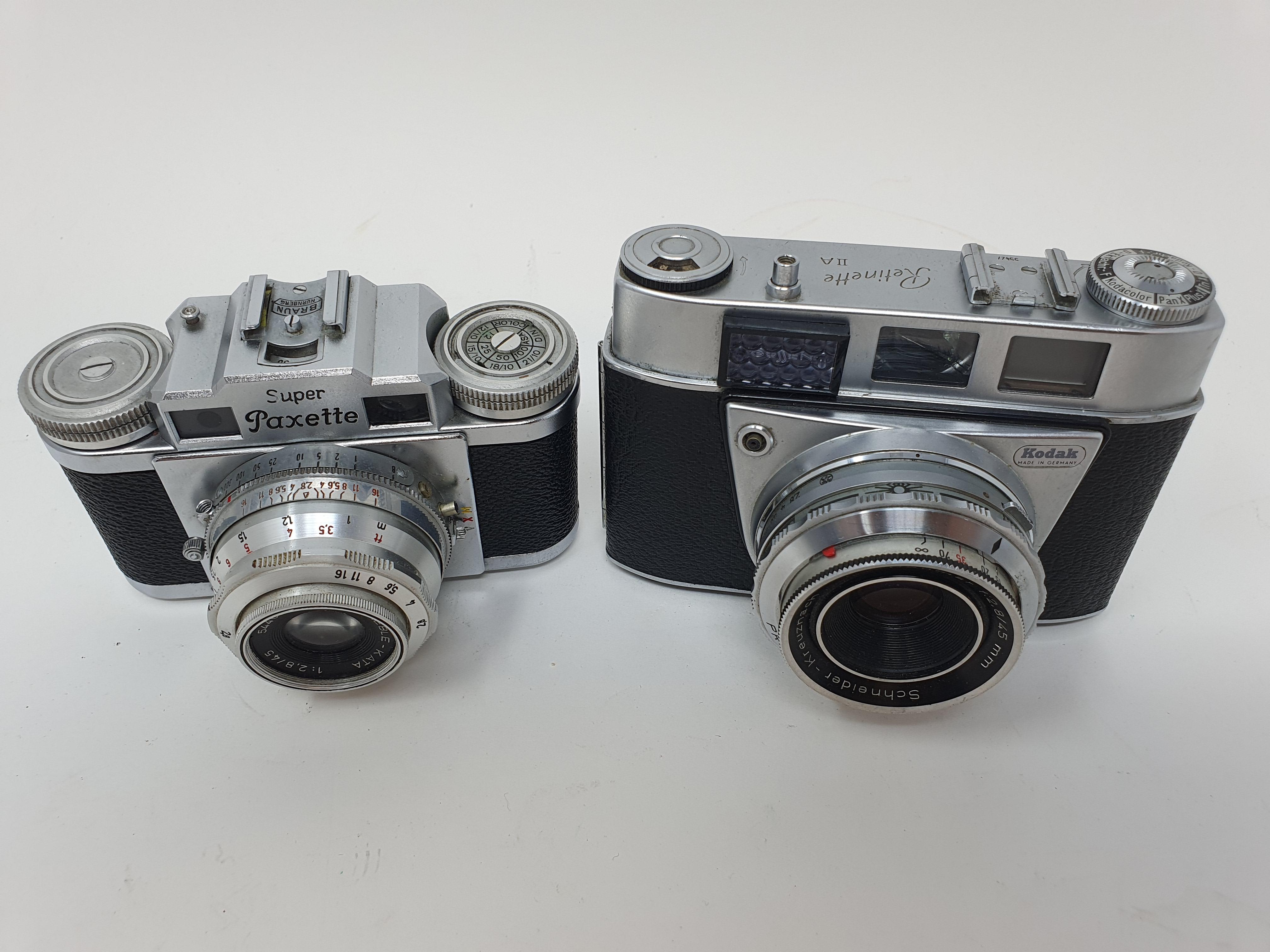 A Kodak Retinette IIA camera and a Braun Super Paxette camera (2) Provenance: Part of a vast - Image 2 of 4