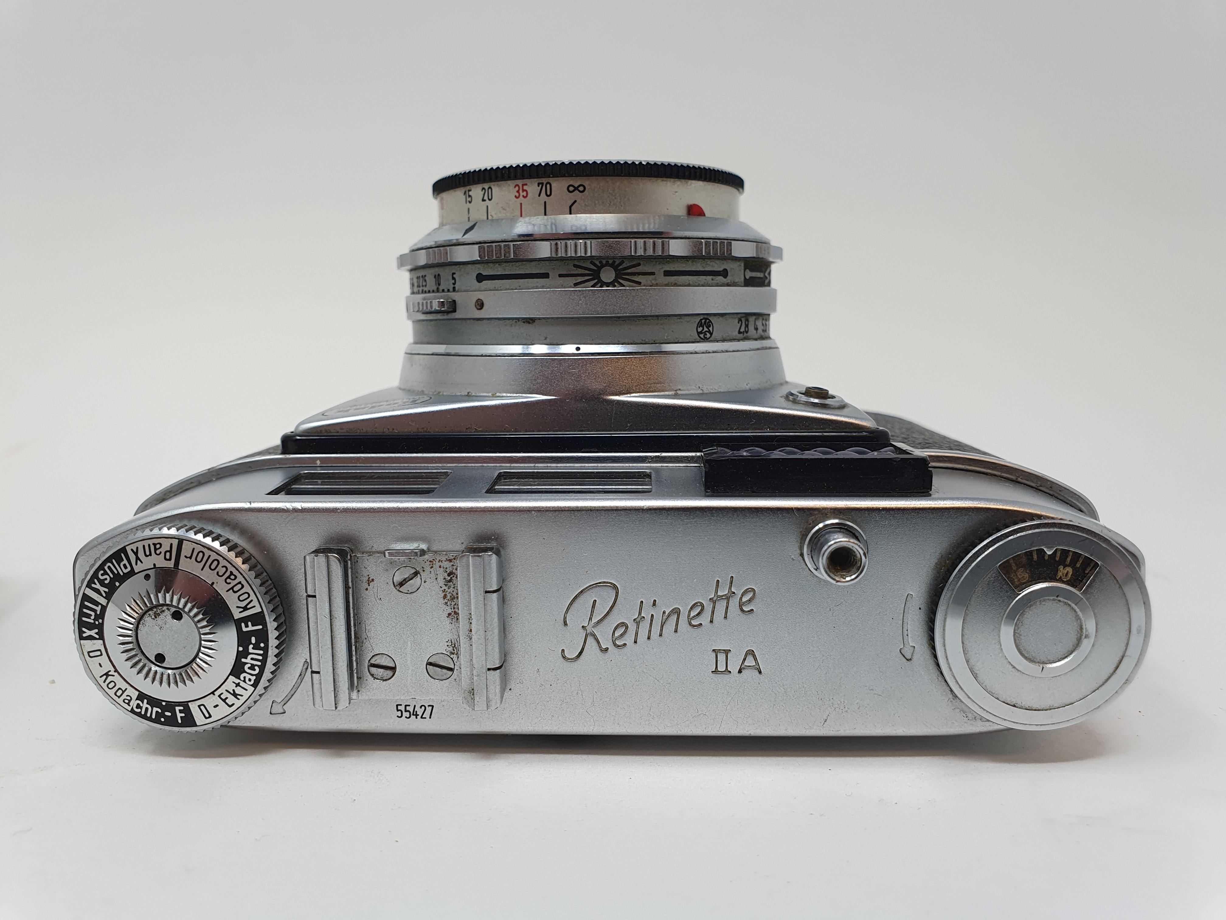 A Kodak Retinette IIA camera and a Braun Super Paxette camera (2) Provenance: Part of a vast - Image 4 of 4