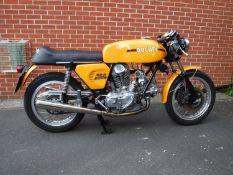 1974 Ducati 750 Sport Registration LDB 946P Frame number 756596 Engine number 756636 25,588 recorded