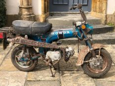 1976 Honda 70cc Monkey bike Registration number OPP 597P Shed stored for many years No documents For