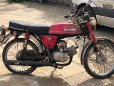 1978 Suzuki 100 CCI Red Registration number ALJ 558T Shed stored for many years No documents For