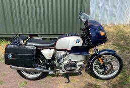 1980 BMW R100RS Registration number CRL 869V Frame number 6097534 Engine number 6097534 11,052