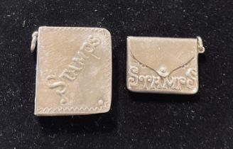 Two silver stamp cases Modern