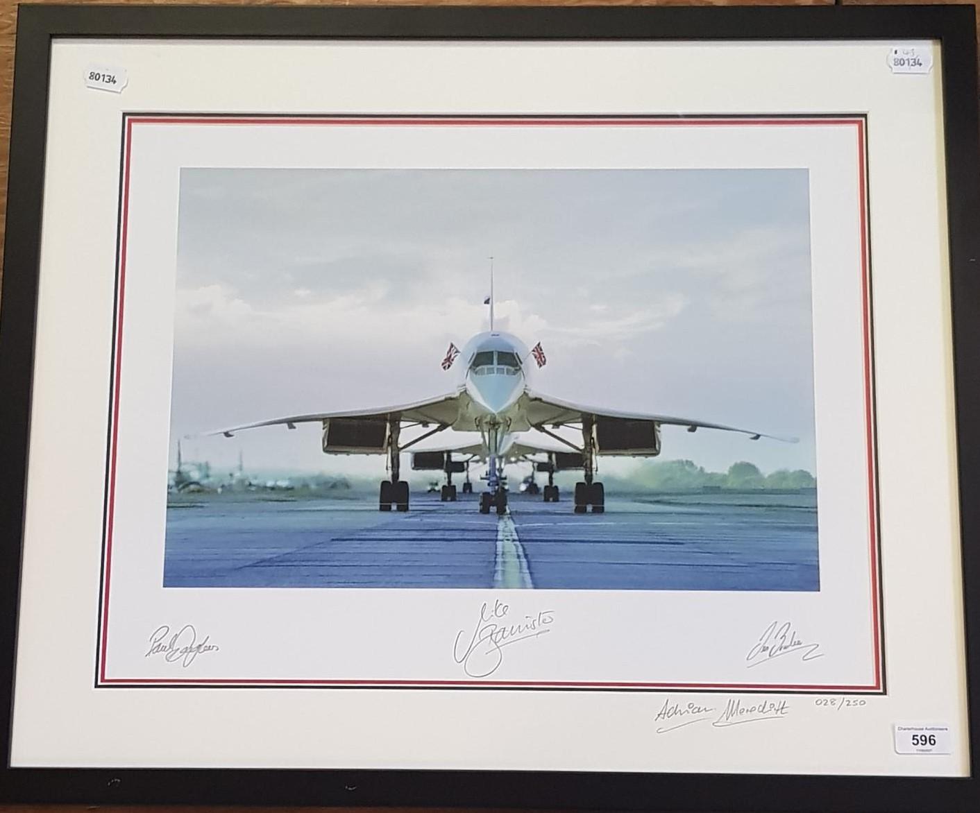 Concorde memorabilia: Concorde from 1976-2003, three Concordes line up on the last flight into - Image 3 of 3