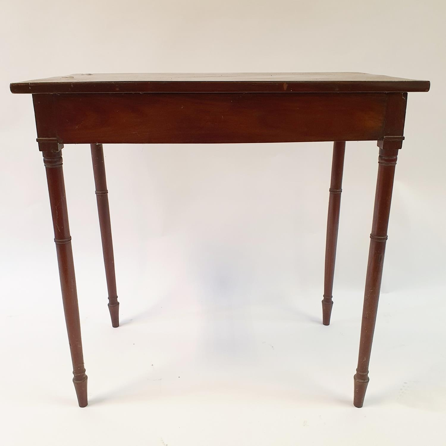 A mahogany side table, 76 cm wide