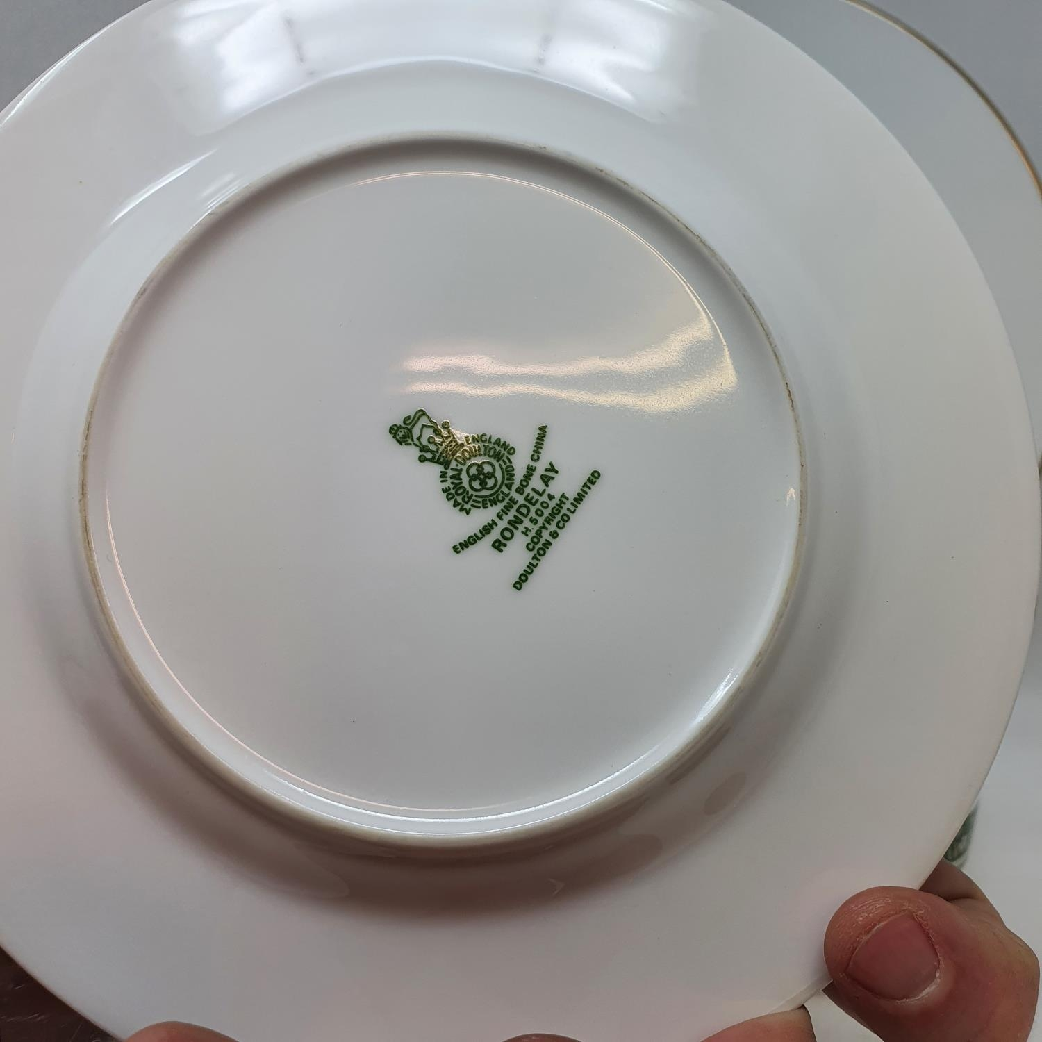 A pair of Staffordshire flat back spaniels, a Royal Doulton part dinner service, other ceramics - Image 2 of 15