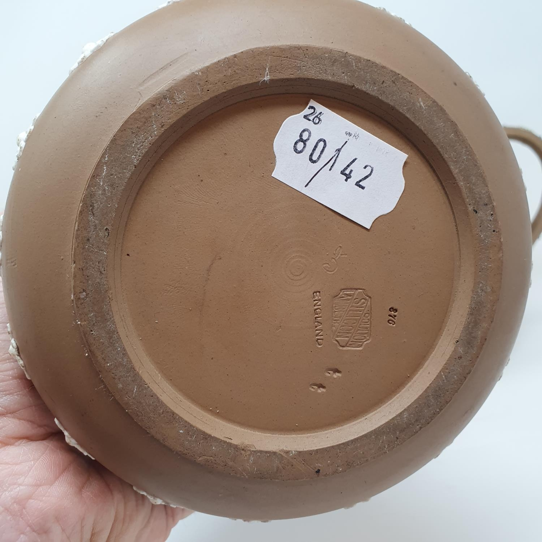 A Doulton Lambeth tobacco jar, 15 cm high, and two Doutlon Lambeth jugs (3) - Image 3 of 7