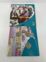 A Commonwealth Games coin set, 2002, and other similar coins
