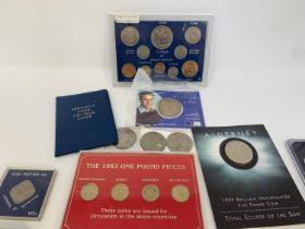 Assorted Jersey, Guernsey, GB an other assorted coins, in an album, trays and loose (qty)