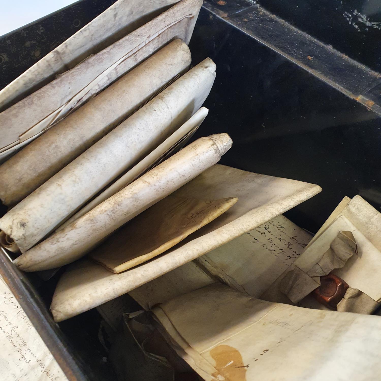 Various indentures, in a tin box - Image 2 of 3