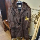 A mink jacket and stole, by Fancy Furs Epsom, a vintage Crocodile handbag and various purses