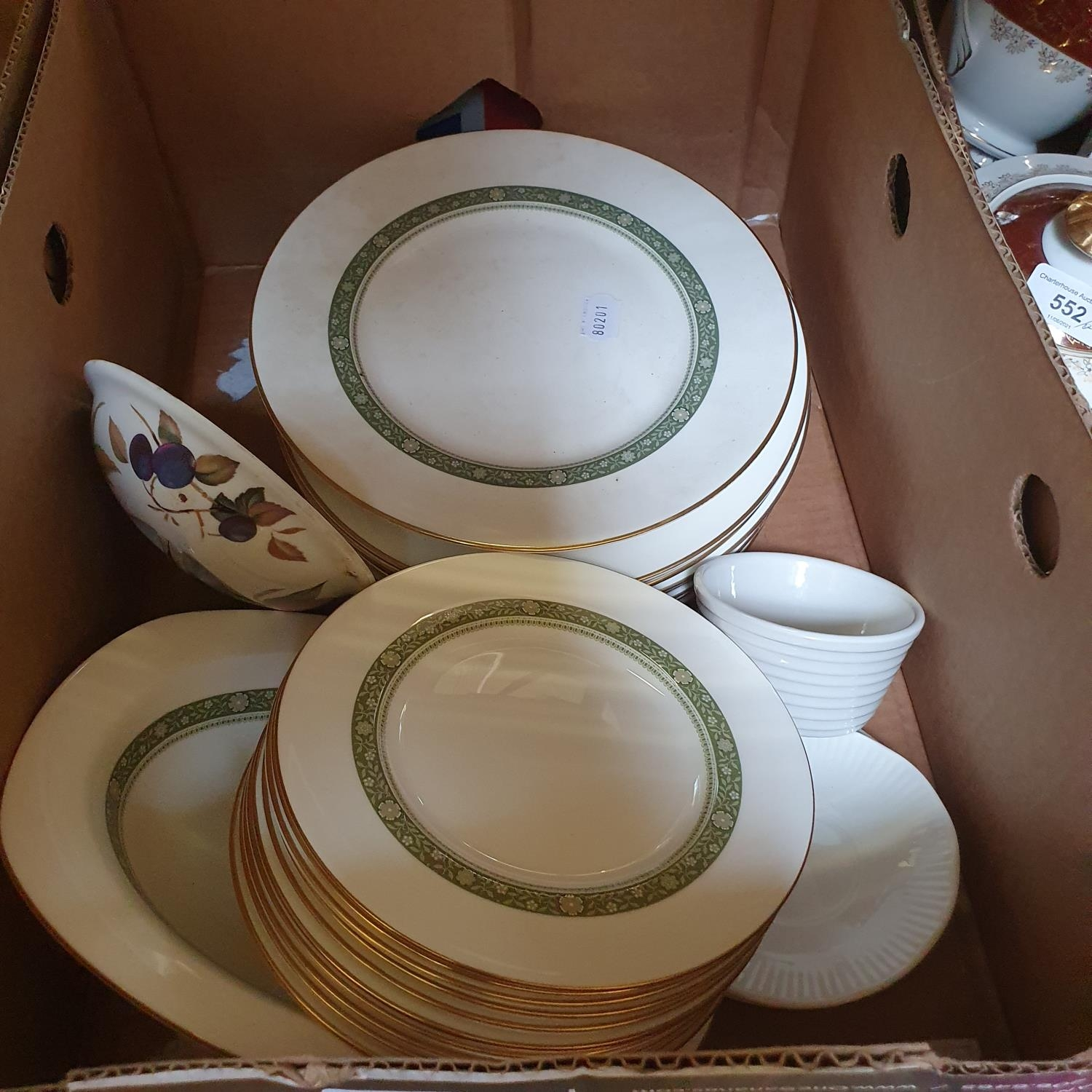 A pair of Staffordshire flat back spaniels, a Royal Doulton part dinner service, other ceramics - Image 10 of 15