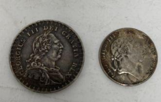 A George III 1s 6d Bank Token, 1812, and an Irish 10d Bank Token, 1811 (2)