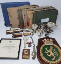 On instructions of the family: The collection of photographs, tankards, plaques, pictures,