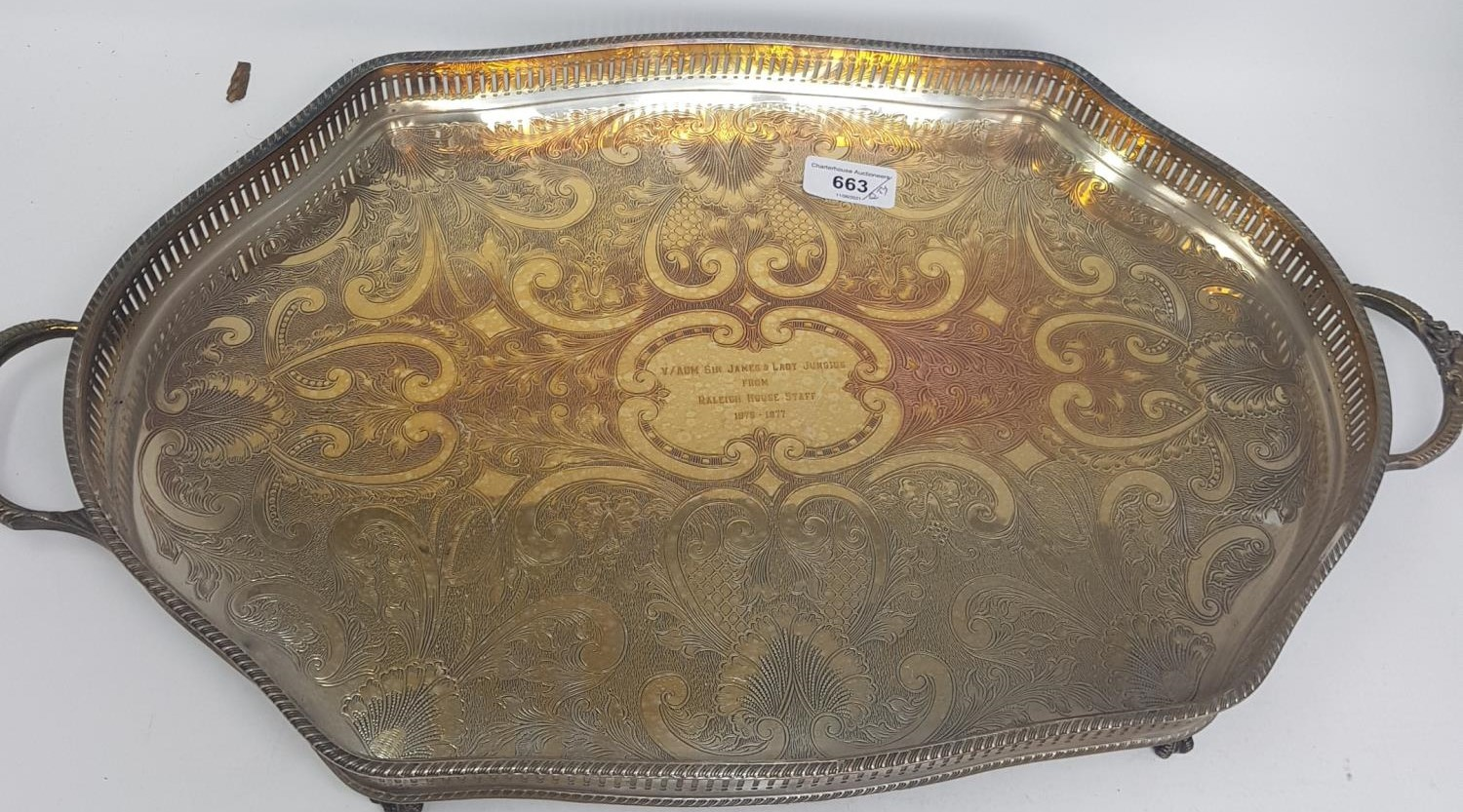 A silver plated tray, other silver plate and metalwares (box) - Image 2 of 2