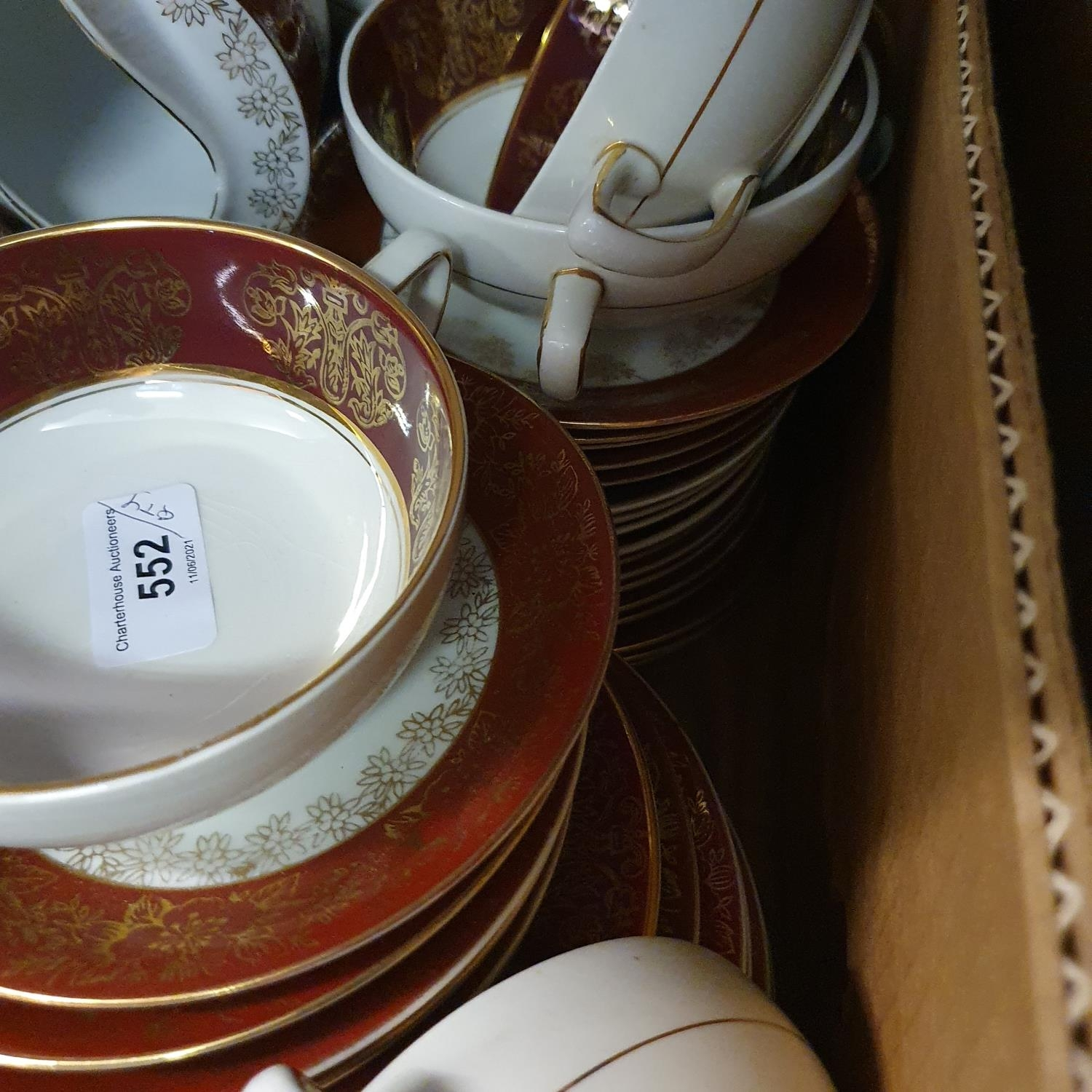 A pair of Staffordshire flat back spaniels, a Royal Doulton part dinner service, other ceramics - Image 14 of 15