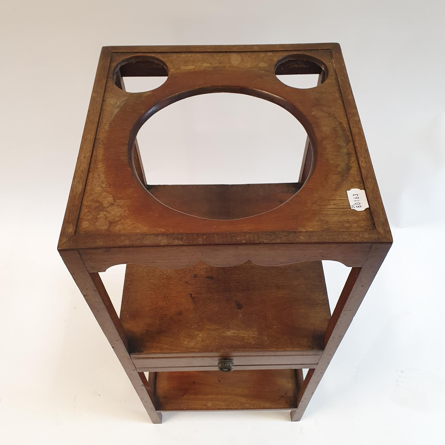 A mahogany washstand, 36 cm wide - Image 2 of 2