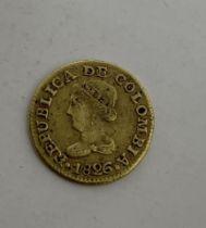 A Columbian Bogota gold 1 pesos, 1826