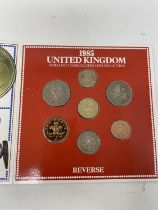 A run of Brilliant Uncirculated Coin Collection year packs, 1984-2000