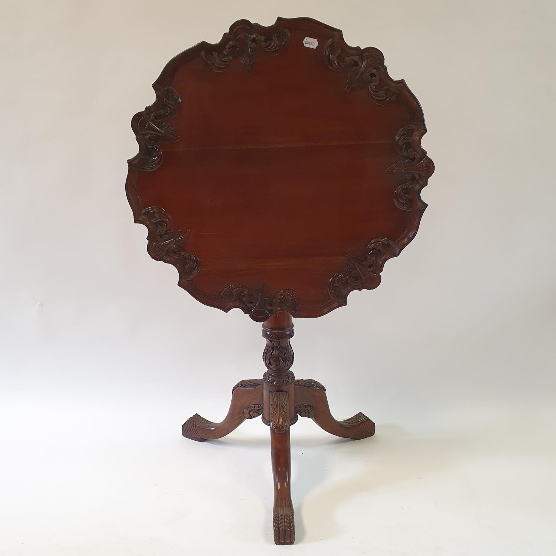 A mahogany tilt top tripod table, 70 cm wide