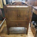 A 19th century mahogany tray top commode, converted, 56 cm wide