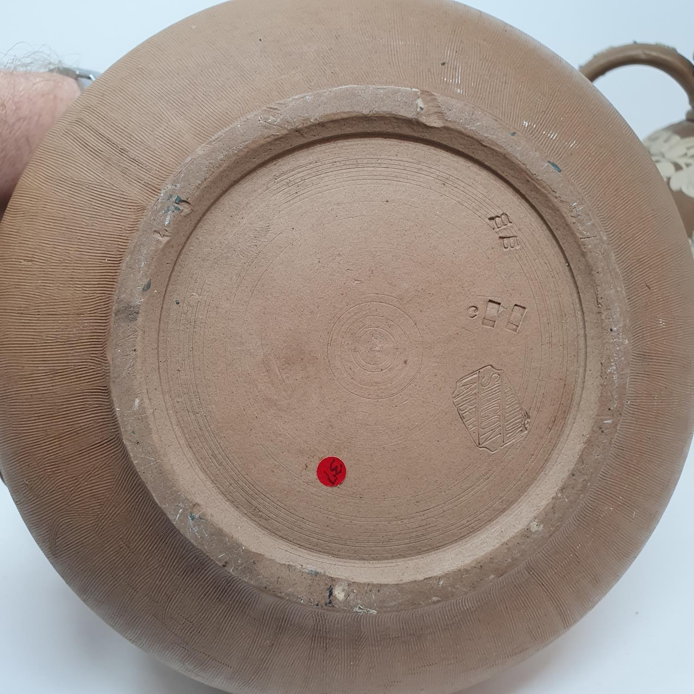 A Doulton Lambeth tobacco jar, 15 cm high, and two Doutlon Lambeth jugs (3) - Image 6 of 7