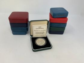 A 50th Anniversary of the Allied Invasion of Europe silver proof £2 coin, 1994, and others