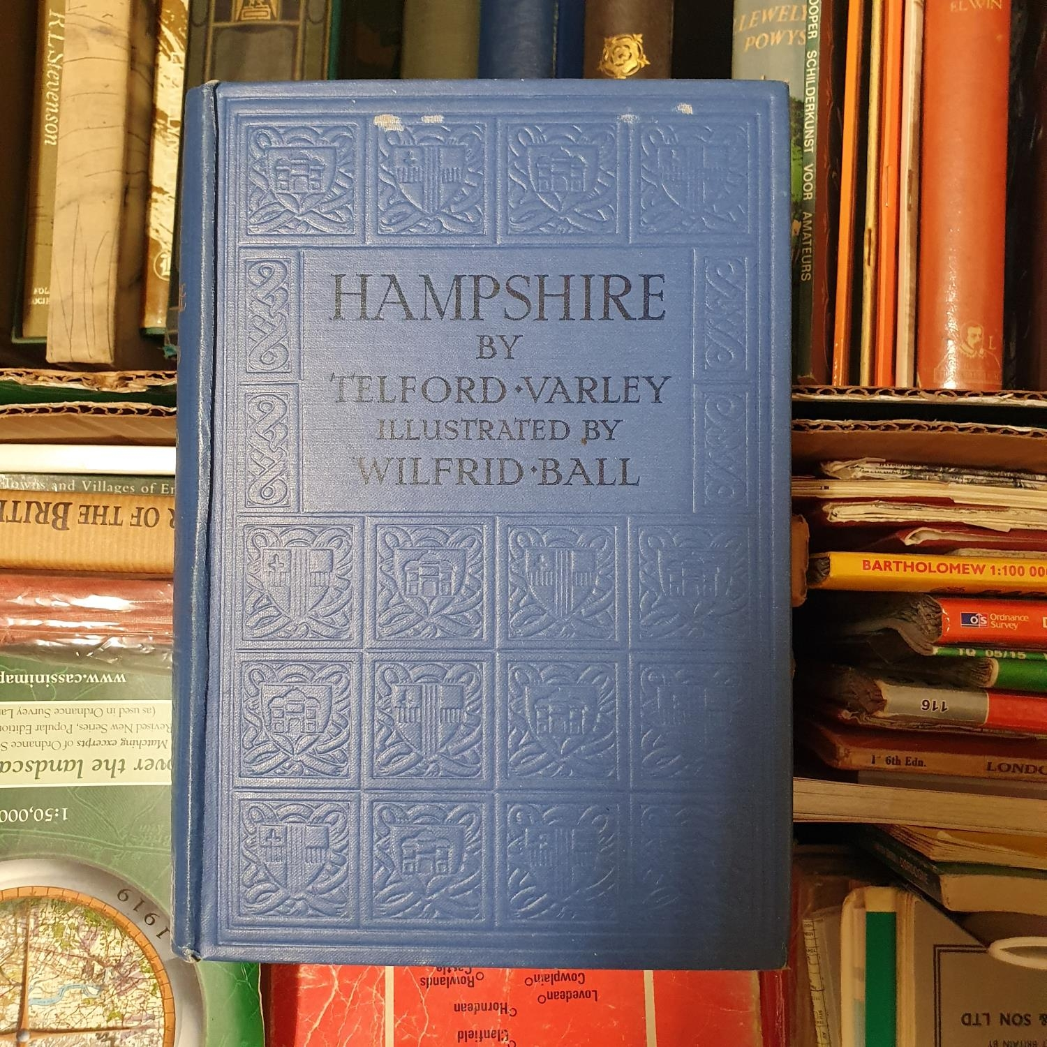 Varley (Telford) Hampshire, and various other books and maps (4 boxes)