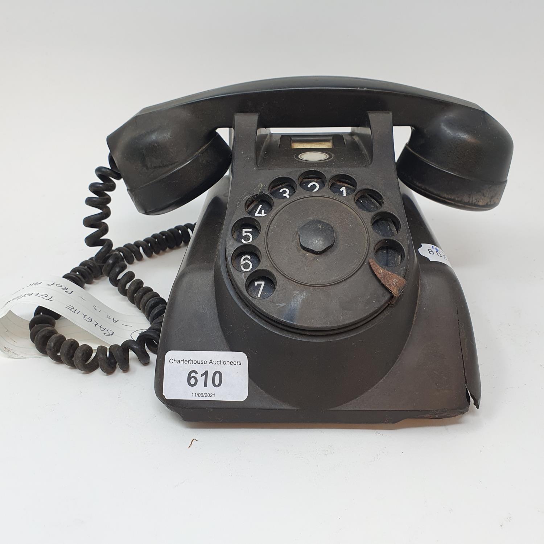 A Bakelite dial telephone, A515 Prop phone