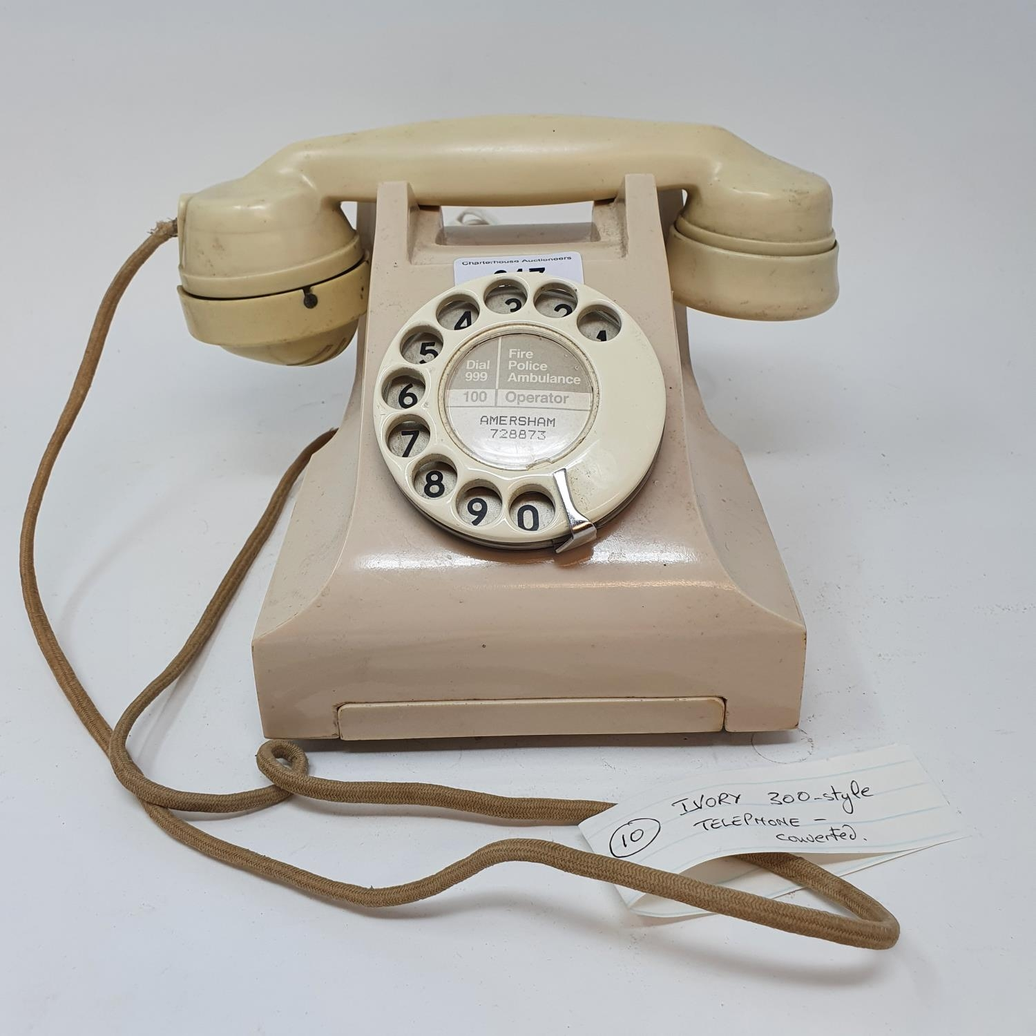 A 300 style dial ivory telephone Converted