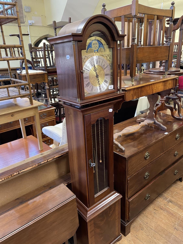 A modern longcase clock, in mahogany case - Image 2 of 2