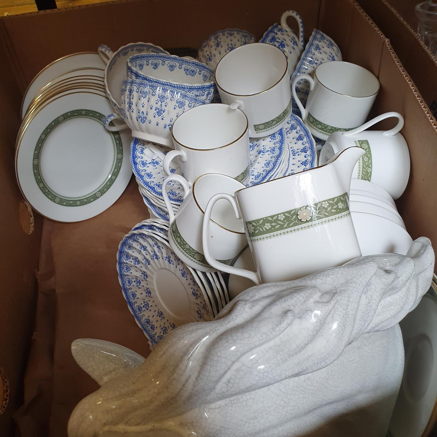 A pair of Staffordshire flat back spaniels, a Royal Doulton part dinner service, other ceramics - Image 6 of 15