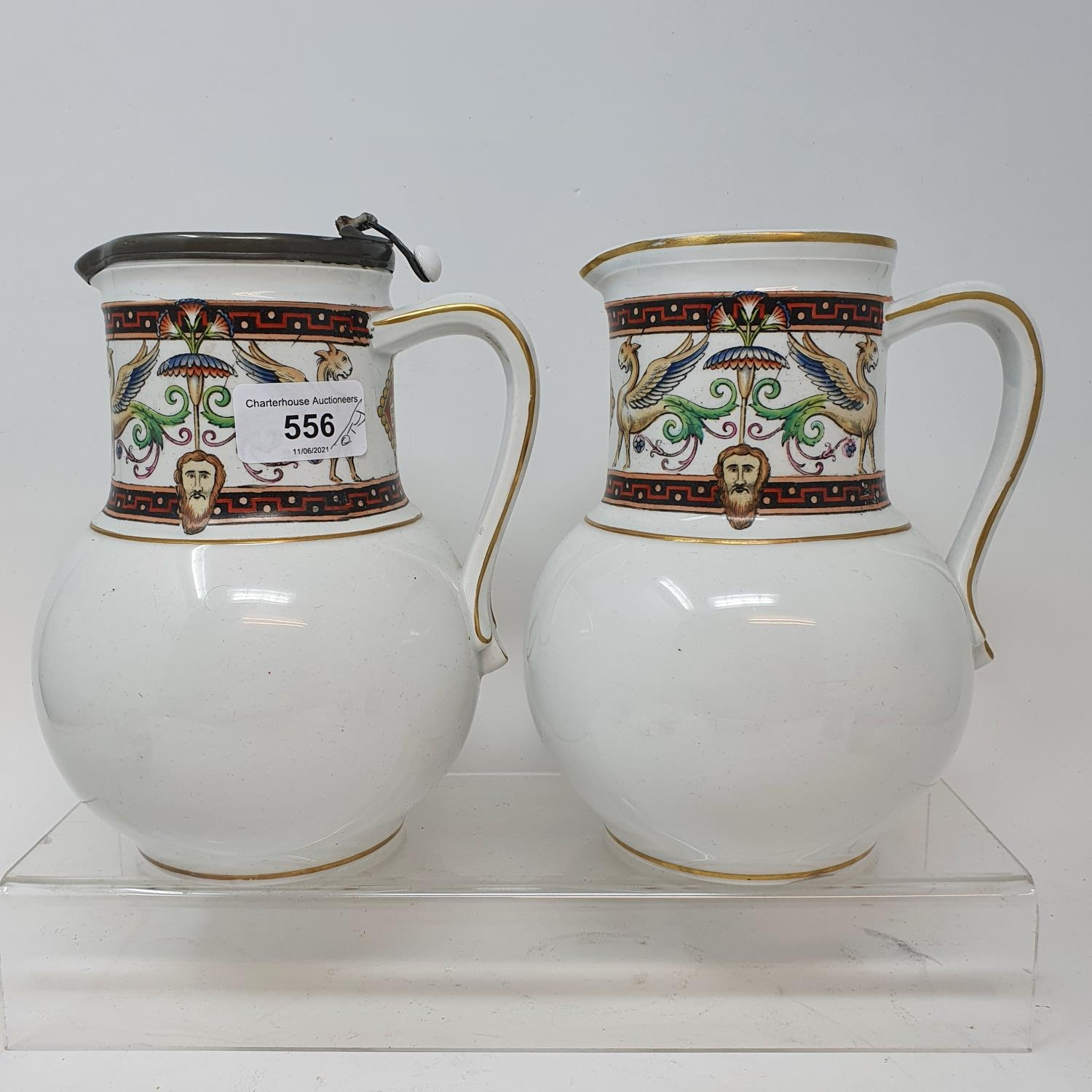 A pair of jugs, decorated phoenix, other ceramics and glass (4 boxes) - Image 2 of 11
