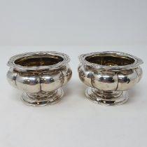 A pair of William IV salts, Joseph Angell & John Angell, 7.5 ozt (2)