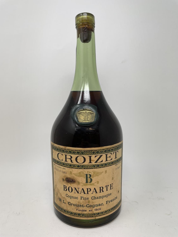 A magnum of Croizet Bonaparte Cognac Fine Champagne, lacks seal, level to neck