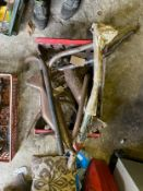 Assorted Velocette spares: Exhaust pipes and silencers