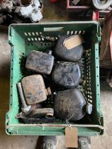 Assorted Velocette spares: Various oil tanks , MAC and later