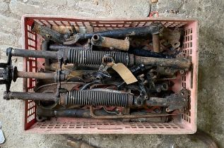 Assorted Velocette spares: Forks, yokes etc