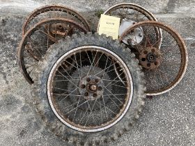 Assorted Velocette spares: Wheels various