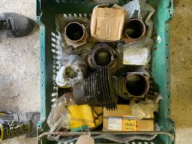 Assorted Velocette spares: Various cylinders and pistons