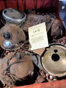 Assorted Velocette spares: Various headlamps