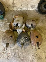 Assorted Velocette spares: Petrol tanks various models