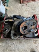 Assorted Velocette spares: Various timing chain covers etc